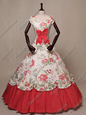 Victorian Southern Belle Old West Dress Floral Gown Reenactment Wear N 273 XXL