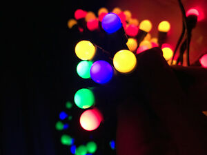 100LED 10M Mini Berry Multi-Coloured Solar Christmas Lights
