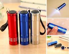 Great! Mini Aluminum UV ULTRA VIOLET 9 LED FLASHLIGHT BLACKLIGHT Torch Light Lam