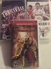 3 Game PSP Lot, God Of War,FIFA 11,Thrillville
