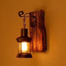 Antik Retro Vintage Industriell Holz Wandleuchte Wand Lampe Wandleuchter Licht