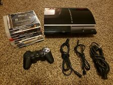 Sony Playstation 3 PS3 Fat 80GB CECHL01 Controller 10 Game Bundle - Works