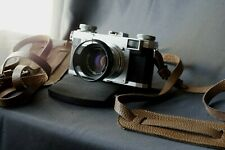 Italian Leather Camera Neck Shoulder Strap leica nikon contax canon etc Brown
