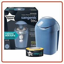 Blue Tommee Tippee Sangenic Hygiene Plus Nappy Wrapper TUB +1 Free Cassette