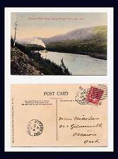 CANADA YUKON STEAMER WHITEHORSE THIRTY MILE RIVER 1908 TO MISS NICOLAS, OTTAWA