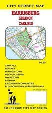 City Street Map of Harrisburg, Lebanon, Carlise, Pennsylvania, by GMJ Maps