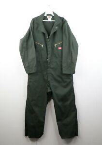 Vintage 90s Dickies Mens 44 Short Spell Out Mechanic Coveralls Work Suit Green
