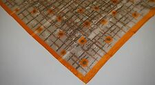 """Women's Scarf Abstract Multi-color 26"""" Square Orange/Sand/Brown/Rust"""