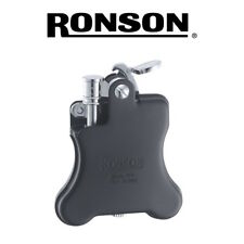 NEW Ronson - Banjo (Matt Black)  - Soft Flame Petrol Lighter