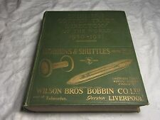 SKINNER'S COTTON TRADE Directory 1930-31 - Adverts Info - BOBBINS & SHUTTLES Etc