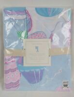 Pottery Barn Kids Balloon Reversible Duvet Cover Twin Cotton Blue Pink New