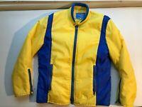 Vintage Snuggler Ski Wear Jacket Yellow Blue Retro 80s 90s Zip Jacket Womens XL