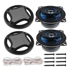 4 Inch 12V 90dB Hifi Loud Speaker MAX 100W 3 Way Coaxial Audio Speaker X2