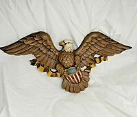"Vintage 1966 SYROCO 22"" American Eagle w Shield Patriotic USA Wall Art #5172"