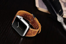 Vintage Coffee Orange Watch Strap Band for Apple Watch 42mm for Series 1/2