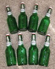 GROLSCH Swing Top Green Beer Bottles w/resealable flip top, Lot of 8,  15.2 oz
