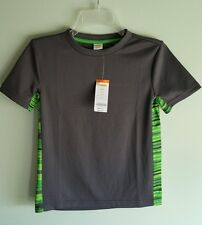 NWT Gymboree Boys 7-8 MEDIUM Gymgo Short Sleeve Athletic Shirt GRAY GREEN #34216