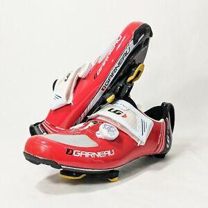 Louis Garneau TRI 400 Cycling Peleton Triathlon Shoe Size 40.5 EU 7 US w/ Cleats