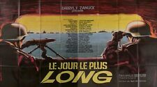 THE LONGEST DAY - WORLD WAR II - WAYNE - ORIGINAL 2 PANELS FRENCH MOVIE POSTER