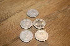 FIVE  Elizabeth II Twenty Pence