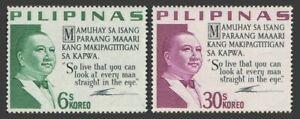 Philippines 882-883,MNH.Michel 766-767. President Elpidio Quirino,1965.