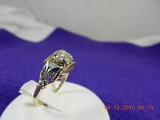 14k two-tone Art Deco Jabel .60 tcw Unique diamond ring - sz 5.5