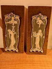 Wedgwood  grandes plaques art nouveau cherubin