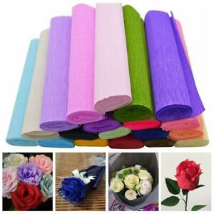 250x25cm 1 Roll Flower Making Crepe Papers Wrapping Flowers Gifts Packing Materi