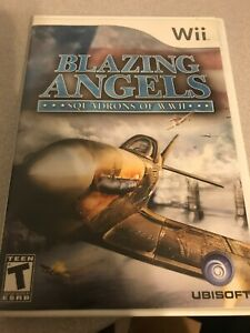Nintendo Wii Blazing Angels : Squadron of WWII  game ( low shipping )