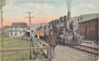 Postcard Maine Central RR Bartlett NH Station Antique