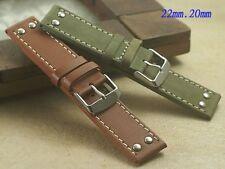Genuine Leather band bracelet strap (fits) Hamilton khaki X-WIND AVIATION QNE