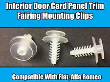 10x Clips Para Alfa Romeo De Plástico Puerta Panel Tarjeta Recorte 145 146 156 166 GTV
