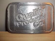 "Used 3 1/8"" X2"" Quality Produce Co. Metal Belt Buckle As-Is Some Wear"