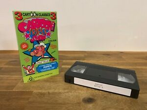 Cartoon Classics Triple Show Starring Popeye VHS Video Tape