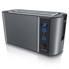 Arendo Frukost 4 Scheiben Toaster Display Auftaufunktion Warmhalten Edelstahl