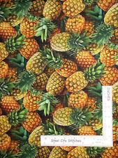 Fruit Pineapple Kitchen Food Festival Cotton Fabric Elizabeths Studio By Yard