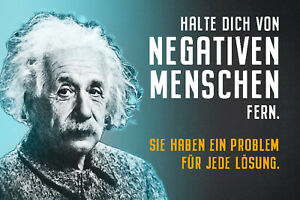 Albert Einstein Collage Spruch 51 Blechschild Schild Tin Sign 20 x 30 cm R0835