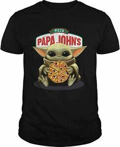 Ba-by yo-da Hug Pizza Papa Johns T-Shirt Birthday Gift Mens, Womens