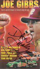 Signed Joe Gibbs Pamphlet 8x10 Formula-1 Racing #7 PSA/DNA Certified (A8085)