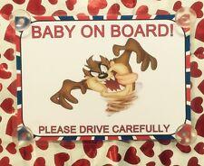 Taz il diavolo della tasmania BABY A BORDO AUTO Firmare laminato