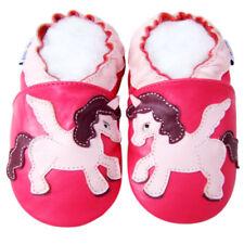 Littleoneshoes(Jinwood) Gift Soft Sole Leather UnicornFuchsia Baby Shoes 12-18M