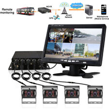 "HD 4CH Car Truck Van Camera 360° Video Recorder DVR SD 4G GPS w/ 7"" Dash Monitor"