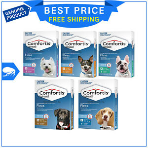 COMFORTIS for Dogs 6 Chews All Sizes Chewable Flea treatment for Dogs