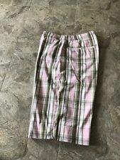 Anne Klein  Plaid Women's Burmuda Shorts Size 6 , Pink/Gray/White/ Olive Green .
