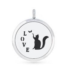 Aroma Pendant love cat Essential Oil Diffuser Necklace fragrance perfume lockets