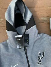 Nike San Antonio Spurs Showtime Hoodie Jacket Full Zip # 940910-032 Sz L NWT