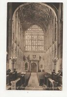 Nave of Sherborne Abbey Vintage Postcard  176a