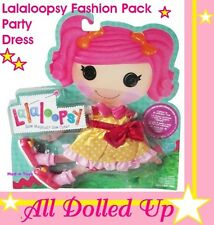 LALALOOPSY Fashion Pack PARTY DRESS + SHOES Yellow+Pink+Polka Dots NEW RARE!