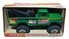 Vintage Tonka Green Machine Wrecker Tow Truck In Original Box #2420