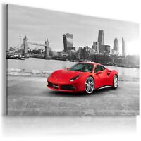 FERRARI ITALIA RED LONDON Car Large Wall Art Canvas Picture AU336 MATAGA .